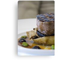Beef & Olives Canvas Print