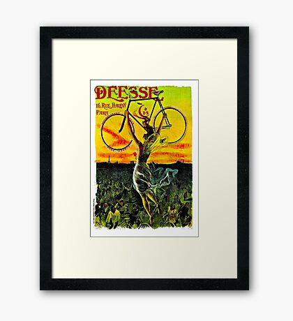 """""""DEESE"""" Vintage Bicycle Advertising Print Framed Print"""