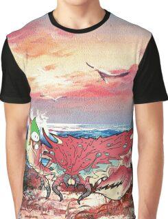 Seaside Sunset Graphic T-Shirt