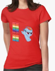 The Rainbow Dash! Womens Fitted T-Shirt