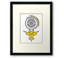 Pokemon Go - Team Instinct Pokestop Design Framed Print