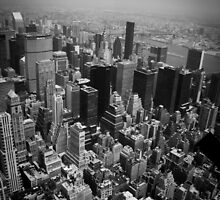 View from the Empire State Building's top level, of NYC by Sandy  Taylor Photography