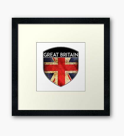 GREAT BRITAIN UNITED KINGDOM ENGLAND FLAG CREST  Framed Print