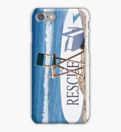 Lifeguard Surfboard Rescue Station  iPhone Case/Skin
