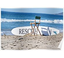 Lifeguard Surfboard Rescue Station  Poster