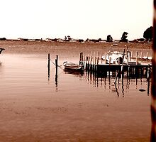 calm at the pier by Yannis-Tsif