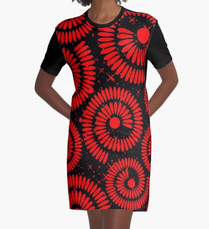 DESIGN-441 Graphic T-Shirt Dress