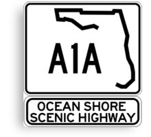 A1A - Ocean Shore Scenic Highway Canvas Print