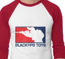 Red White and Blue Logo Men's Baseball ¾ T-Shirt