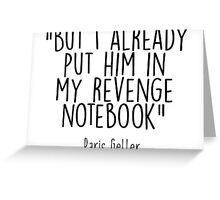 Gilmore Girls - Revenge Notebook Greeting Card
