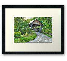Coburn Covered Bridge Framed Print