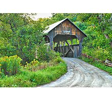 Coburn Covered Bridge Photographic Print