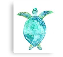 Blue Turtle, turtle art, ocean turtle swiming Canvas Print