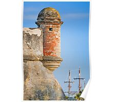 Spanish Fort and Galleon Poster