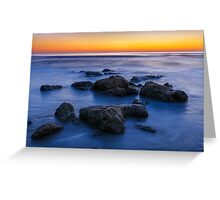 Beach Rocks Sunrise Greeting Card