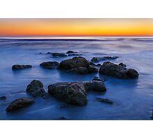 Beach Rocks Sunrise Photographic Print
