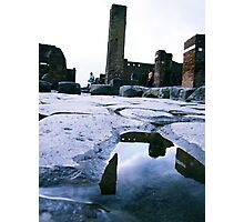 dog, snoopy, ruins Photographic Print