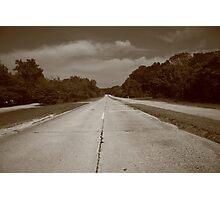 Route 66 - Missouri Concrete Highway Photographic Print