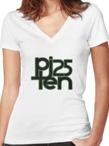Pearl, Jam TEN turns 25 Dark (Nufuzion T-Shirt Design) Women's Fitted V-Neck T-Shirt