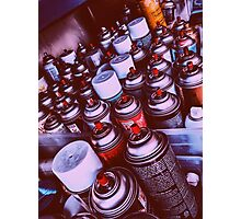 Graffiti Spray Cans Photographic Print