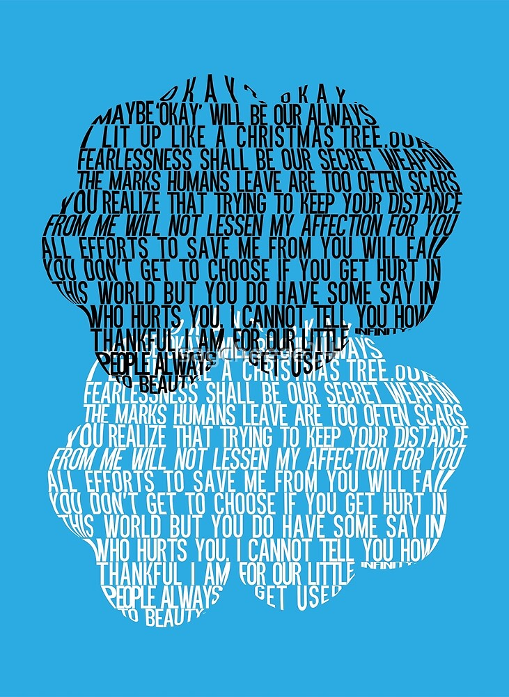 The Fault In Our Stars Cloud Typography By Saycheese14