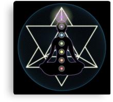 Meditate Yoga Chakras Canvas Print