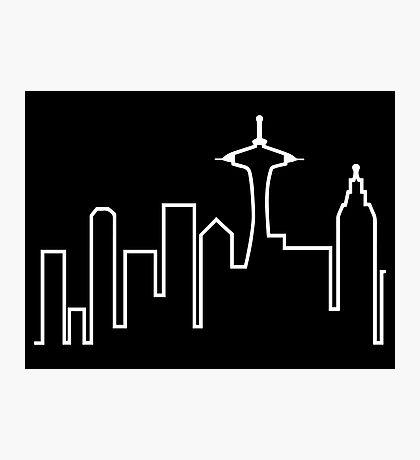 Seattle Skyline (Frasier) Photographic Print