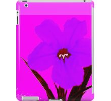 pop flower violet blue iPad Case/Skin