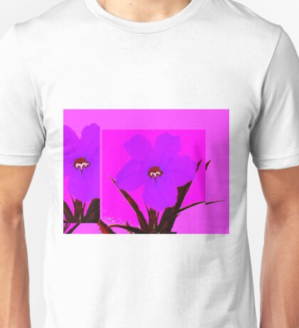 pop flower violet blue Unisex T-Shirt