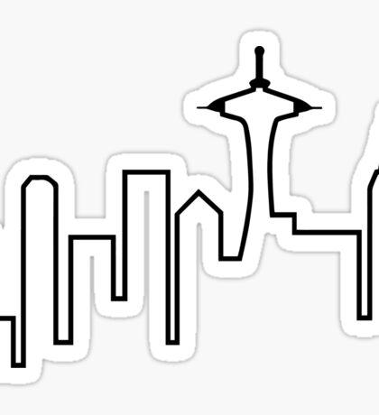 Seattle Skyline (Frasier) Sticker
