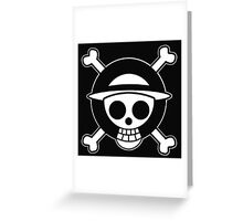 One Piece Pirate (White) Greeting Card
