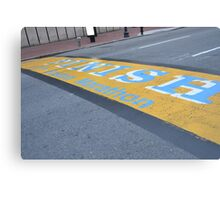 Boston Marathon Finish Line Canvas Print