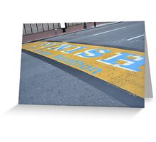 Boston Marathon Finish Line Greeting Card