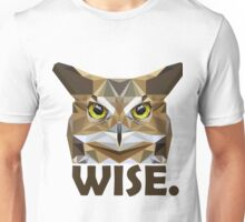 Poly Wise Owl | Owls Unisex T-Shirt