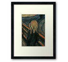 The Scream (1893) {SAD ART} Framed Print