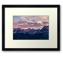 Beautiful landscape image of the Bavarian Alps Framed Print