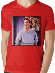 nervous fake laughter Mens V-Neck T-Shirt