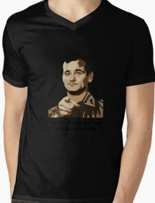 Bill Murray - Your on a Gravy Train with Biscuit Wheels Mens V-Neck T-Shirt