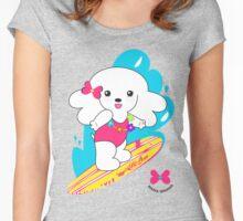 Surfur gurl by Hana Ohana Women's Fitted Scoop T-Shirt