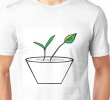 Minimalist Pot Plant Unisex T-Shirt
