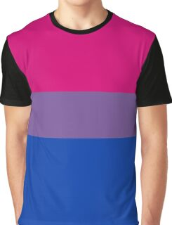 Bisexual Pride Flag Graphic T-Shirt
