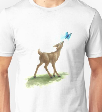 The Doe and the Butterfly Unisex T-Shirt