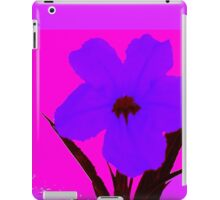 Blue pop flower on Magenta iPad Case/Skin