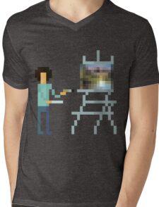 Pixel Ross Mens V-Neck T-Shirt
