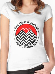 The Black Lodge Club - Twin Peaks Women's Fitted Scoop T-Shirt