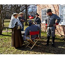 Civil War Re Enactors Photographic Print