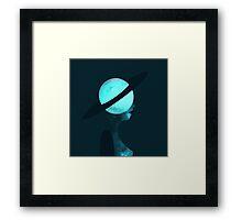 Art Deco Space Woman Framed Print