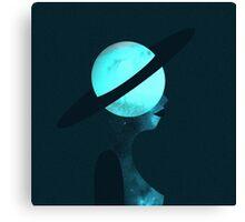 Art Deco Space Woman Canvas Print