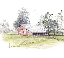 Woolmers Shearing Shed by Muriel Sluce by Wendy Dyer