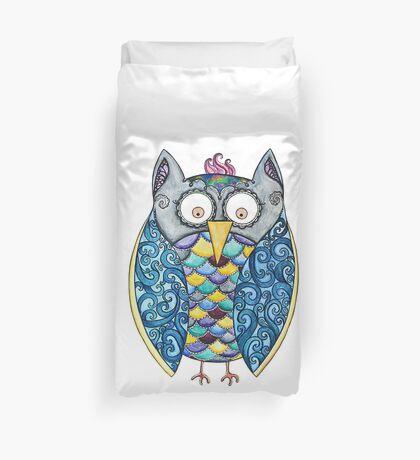 Watercolor Owl Duvet Cover